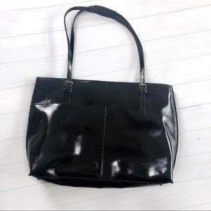 HOBO Patent Leather Tote Bag
